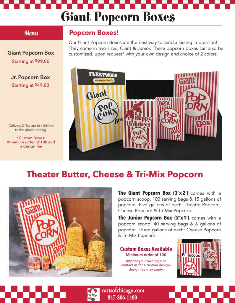 Best company gift giant popcorn boxes