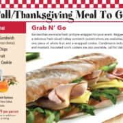 Fall Thanksgiving Turkey Sandwich Bagged Meals Covid Safe