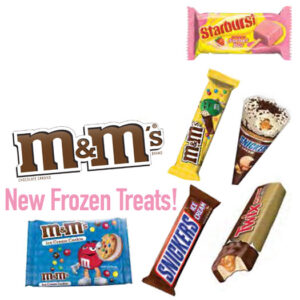 M&M Mars Frozen Treat Ice Cream Cart Bars