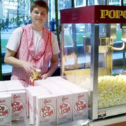 Catering popcorn cart