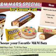 Snickers M&M Ice Cream Bars Cart Chicago