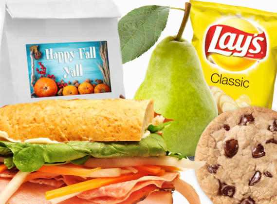 Turkey Sandwich Catering Bagged Meals