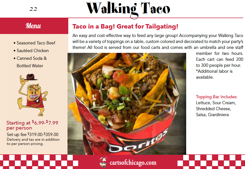 catered walking taco package chicago