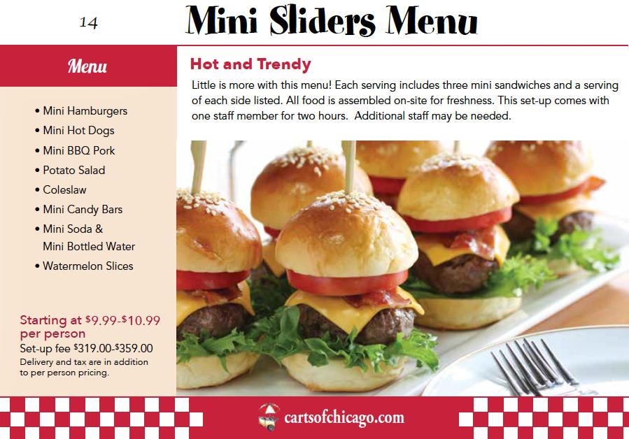 Mini Slider Catering Menu