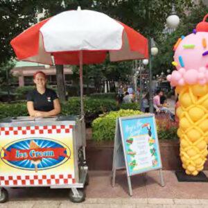 chicago ice cream truck balloon girl