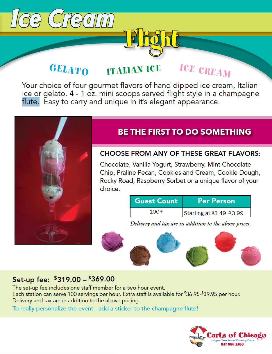 ice cream flight