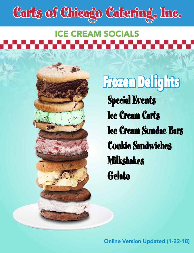 Ice Cream Socials and Ice Cream Event Catering Catalog