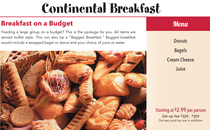 Budget-friendly Continental Breakfast Catering