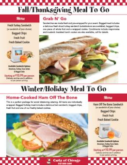 Fall/Thanksgiving Grab & Go Sandwich Catalog