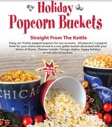 Order Holiday Popcorn Buckets