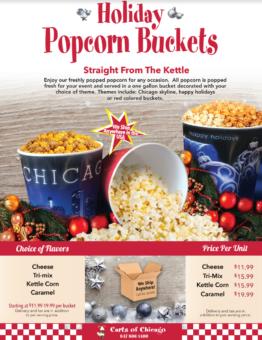 Holiday Popcorn Buckets Gift Catalog