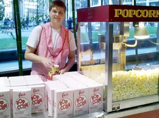 Catering popcorn cart